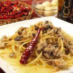ヤズのペペロンチーノスパゲティー